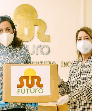Sur Futuro entrega equipos médicos y raciones alimenticias a instituciones representativas de cinco provincias del país que trabajan contra el covid-19
